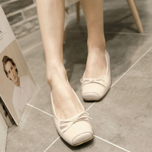 Load image into Gallery viewer, Women Flats Girl Casual Loafers Shoes Square Toe Bow Ballet Shoes
