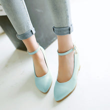 Load image into Gallery viewer, Ankle Straps Women Wedges Shoes