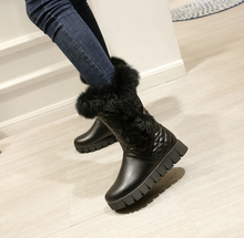 Load image into Gallery viewer, Fur Snow Boots Wedges Winter Women Shoes