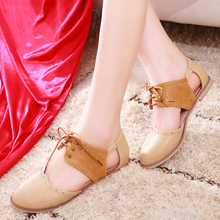 Load image into Gallery viewer, Lace Up Covered Toe Sandals Flats Shoes 9371
