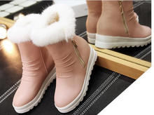 Load image into Gallery viewer, Rabbit Fur Snow Boots Women Shoes Fall|Winter 7796