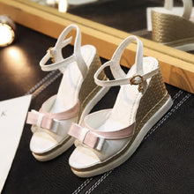 Load image into Gallery viewer, Fashion Bowtie Wedges Sandals Pumps Platform High Heels Women Shoes 7240
