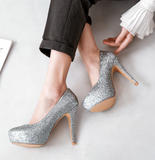 Women High Heel Wedding Shoes New Arrive Pumps Platform