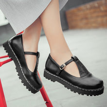 Load image into Gallery viewer, Buckle Women Platform Shoes Flats 3779