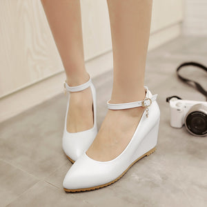 Ankle Straps Women Wedges Shoes