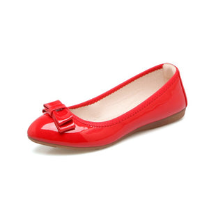 Elastic Women Flats Bow Loafers Ballet Shoes