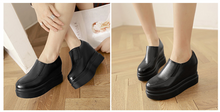 Load image into Gallery viewer, Sip On Platform Shoes PU Leather Women Wedges Loafers