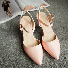 Load image into Gallery viewer, Fashion Ankle Straps Sandals Pumps High Heels Women Dress Shoes 7720