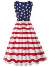 Load image into Gallery viewer, American Flag Print Dress for Women