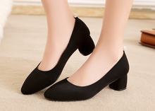 Load image into Gallery viewer, Pointed Toe Pumps High Heels Artificial Suede Shoes Woman