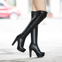 Load image into Gallery viewer, Strappy High Heels Platform Over the Knee Boots 6622