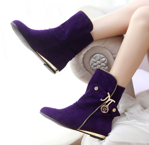 Zipper Wedges Boots Women Shoes Fall|Winter 11191501