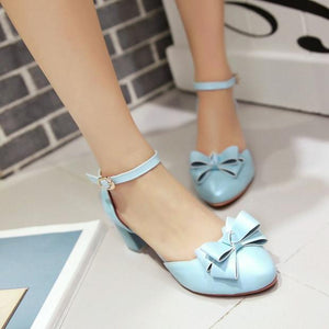 Fashion Bow Sandals Pumps High Heels Women Dress Shoes 6261