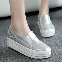 Load image into Gallery viewer, Women Wedges Summer Pumps High Heel Loafers Rhinestone Platform Shoes