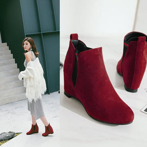 Round Toe Ankle Boots Women Shoes Fall|Winter 9637