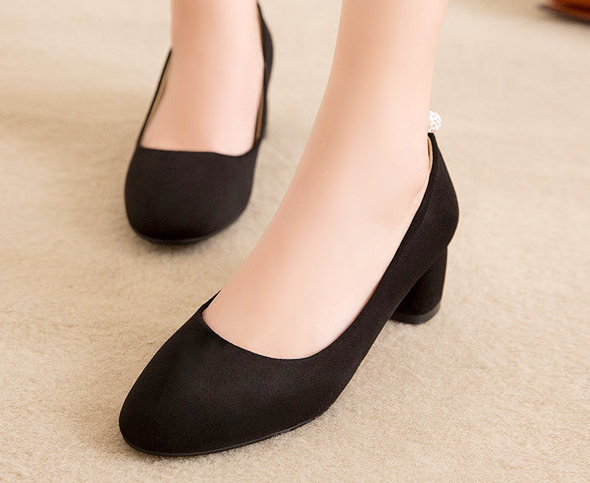 Pointed Toe Pumps High Heels Artificial Suede Shoes Woman