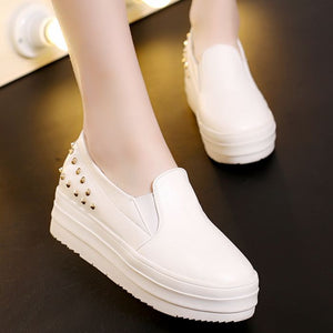 Women Wedges Summer Pumps High Heel Loafers Rhinestone Platform Shoes