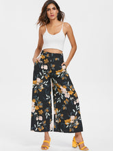 Load image into Gallery viewer, High Waist Floral Print Women Wide Leg Pants 5362