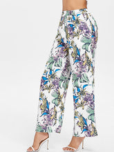 Load image into Gallery viewer, High Elastic Waist Flower Printed Wide Leg Trousers 6448