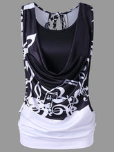 Load image into Gallery viewer, Music Note Printing Women Tank Top with Camisole 4192