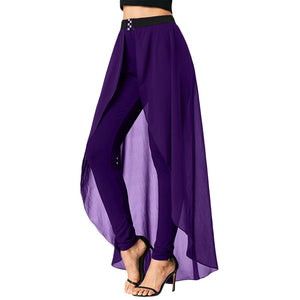 Thin High Waist Slimming Skirted Pencil Pants 7511