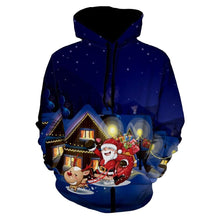 Load image into Gallery viewer, Santa Clause Eve Print Christmas Pullover Hoodie for Men 6927