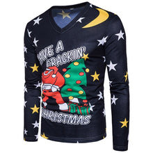 Load image into Gallery viewer, V Neck Christmas Costumes Santa Claus Print Ugly T-shirt for Men 2893