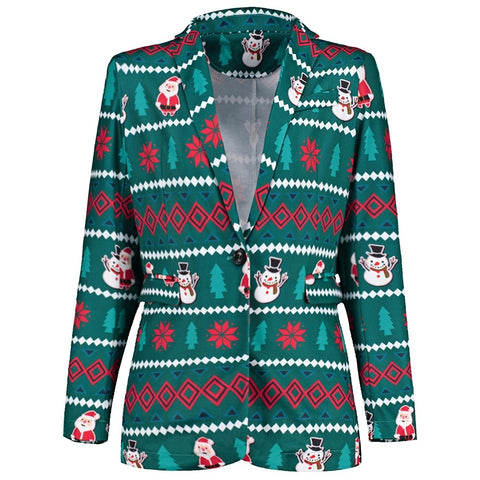 One Button Christmas Costumes Slim Fit Men Blazer 6836