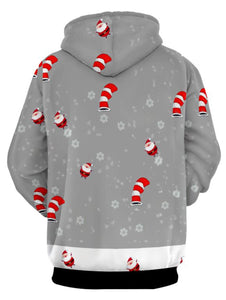 Drawstring Pullover Christmas Hoodie with Kangaroo Pocket 4146