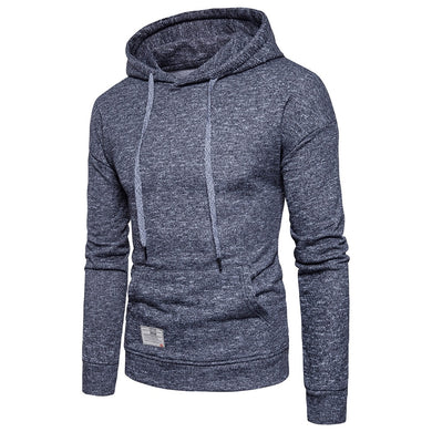 Drop Shoulder Drawstring Men Long Sleeved Pullover Hoodie 5158