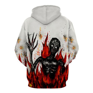 Halloween Costumes Devil Print Men Pullover Hoodie 8392