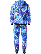 Load image into Gallery viewer, Galaxy Print Men Hoodie and Jogger Pants 2pcs 6264