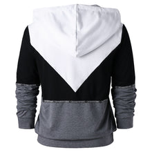 Load image into Gallery viewer, Raglan Long Sleeve Drawstring Neck Men Hoodie 7789
