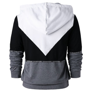 Raglan Long Sleeve Drawstring Neck Men Hoodie 7789