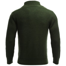 Load image into Gallery viewer, Stand Collar Flat Knitted Pullover Toggle Sweater for Men 7767