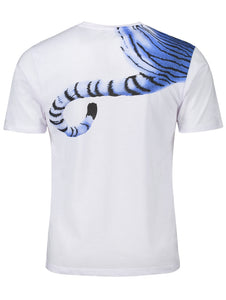 Tiger Print Round Neck Short Sleeve T-shirt 3522