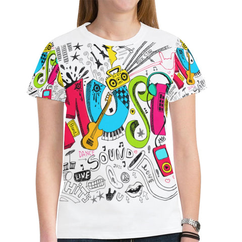 Dating Music Notes Novelty Graphic Printed Crew Neck Short Sleeve Women T Shirt Tops Teacher Gift 3026
