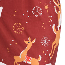 Load image into Gallery viewer, Christmas Elk Printed Plus Size Long Sleeve Women Dress 4559