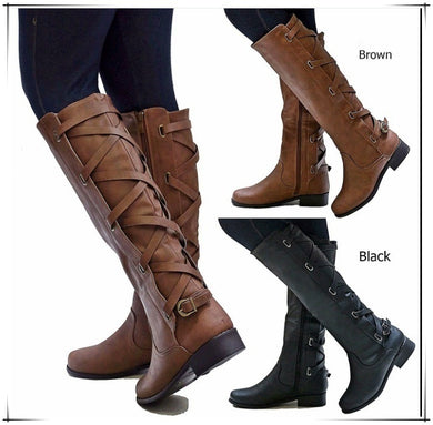 Women's Low Heel Party Tall Riding Boots