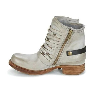 Ladies Low-heeled Side Zip Boots in Autumn and Winter