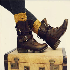 Women's Low Heel Martin Boots