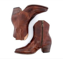 Load image into Gallery viewer, Women's High Heel Thick Heel Side Zipper Ankle Boots