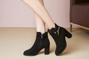 Women's Chunky Heel Ankle Boots