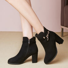 Load image into Gallery viewer, Women's Chunky Heel Ankle Boots