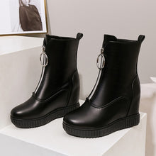 Load image into Gallery viewer, Women's Zipper Platform Wedges Boots