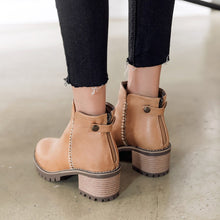 Load image into Gallery viewer, Women's Thick Heeled Short Boots Shoes Woman