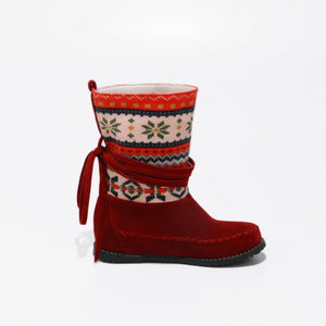 Women's Ethnic Trend Mid Calf Boots Shoes Woman