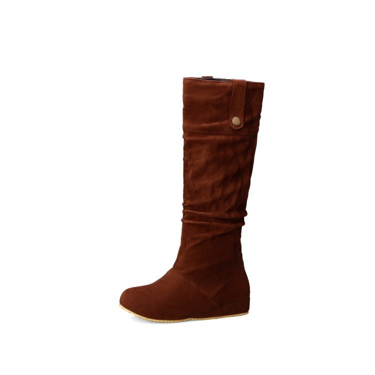Women's Suede Tall Boots Shoes Woman