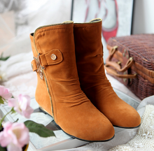 Load image into Gallery viewer, Zipper Wedges Boots Women Shoes Fall|Winter 11191501