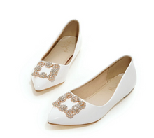 Load image into Gallery viewer, Sweet Rhinestone Flats Women Shoes 1401